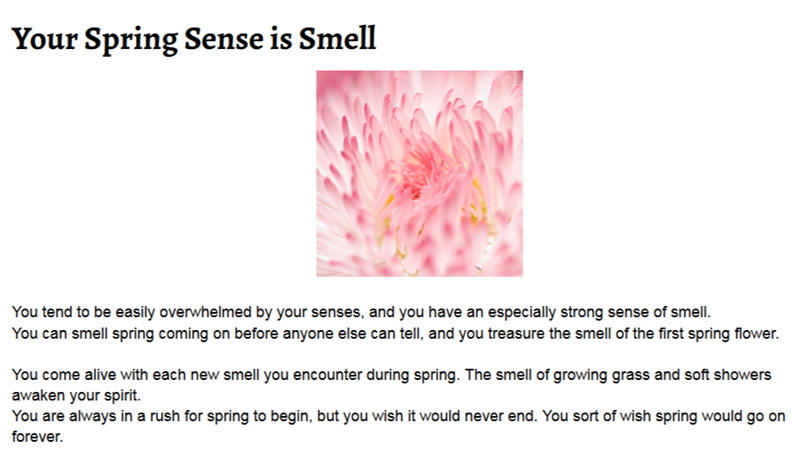 What's Your Spring Sense